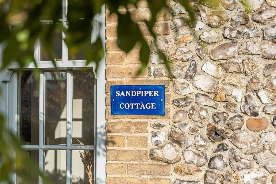 Sandpiper Cottage Titchwell | Nameplate