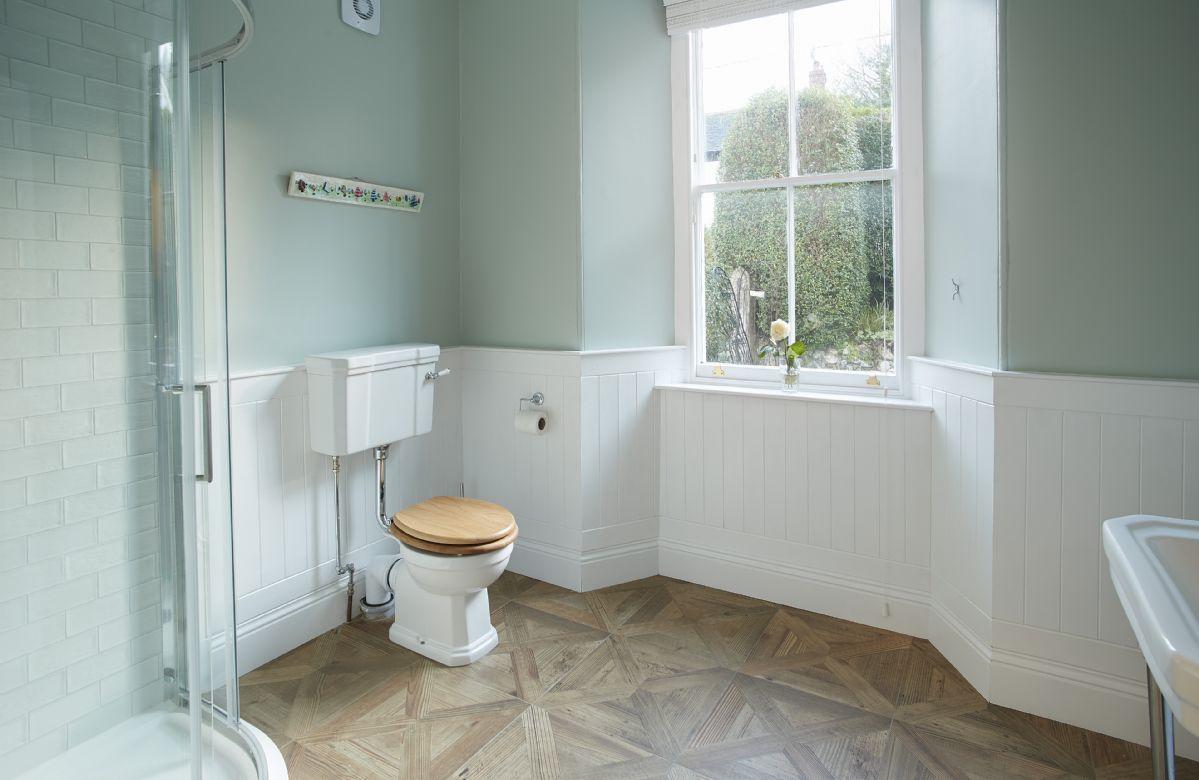 Ground floor: Shower room with walk in shower