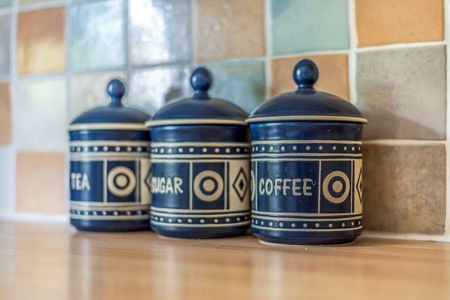 Hope Cottage in Docking | Storage jars
