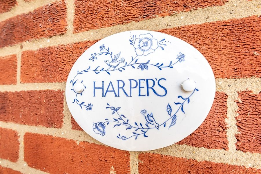 Harpers | House sign