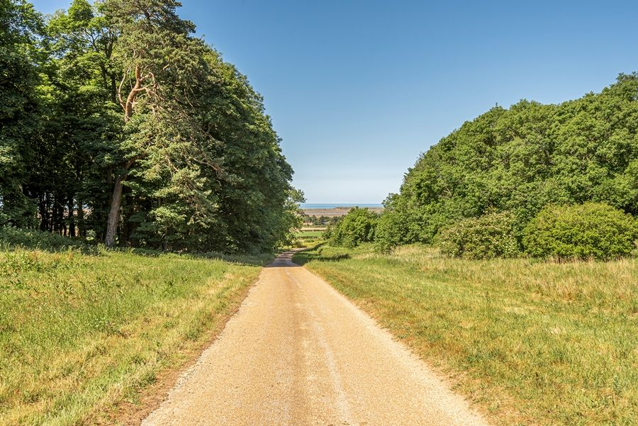 East Cottage | Private road down to the sea