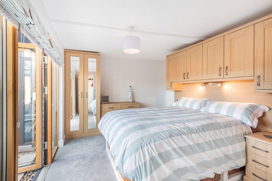 Peewits Penthouse | Bedroom 2 doors to balcony