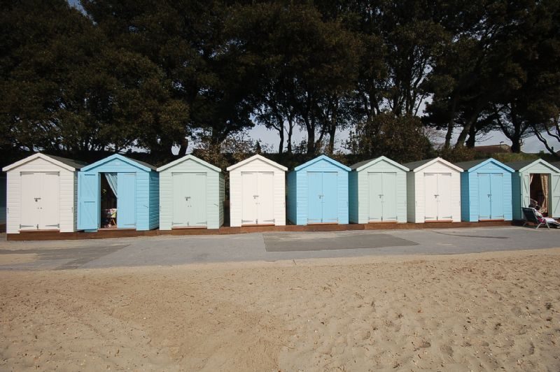 Beach huts at Avon Beach, Mudeford