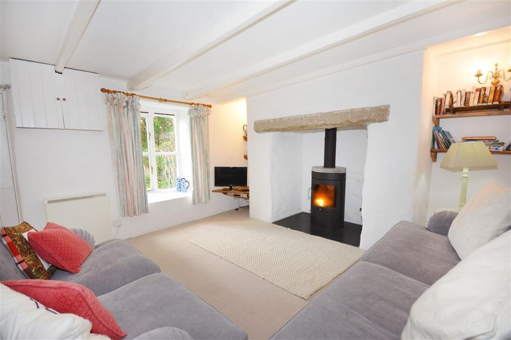 Pen Mor Cottage - Lounge & Fire