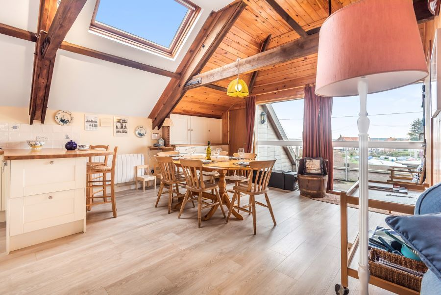 Staithe Barn | Open plan with lovely view