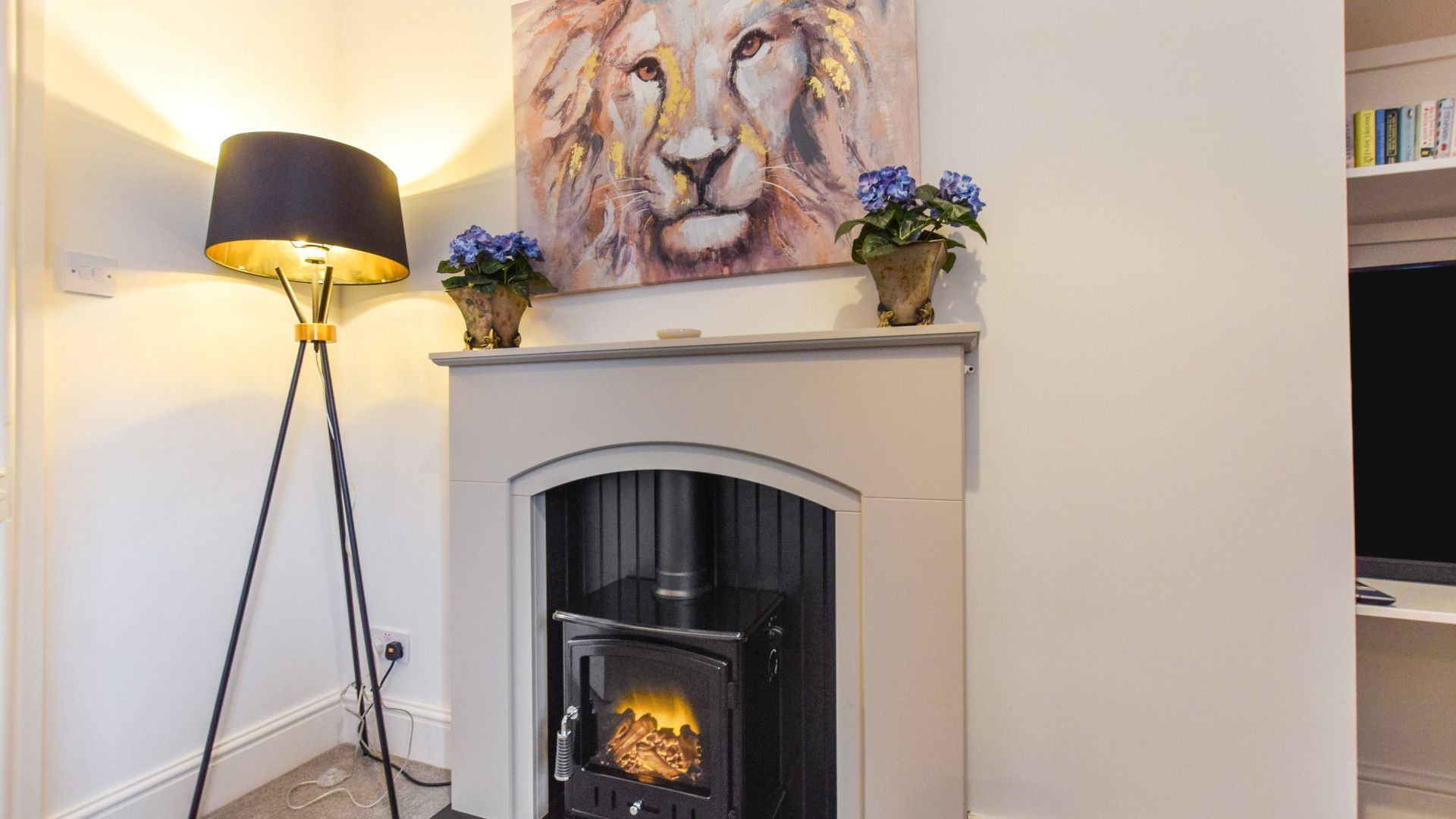Living Room Fireplace, Bishop's, Bolthole Retreats