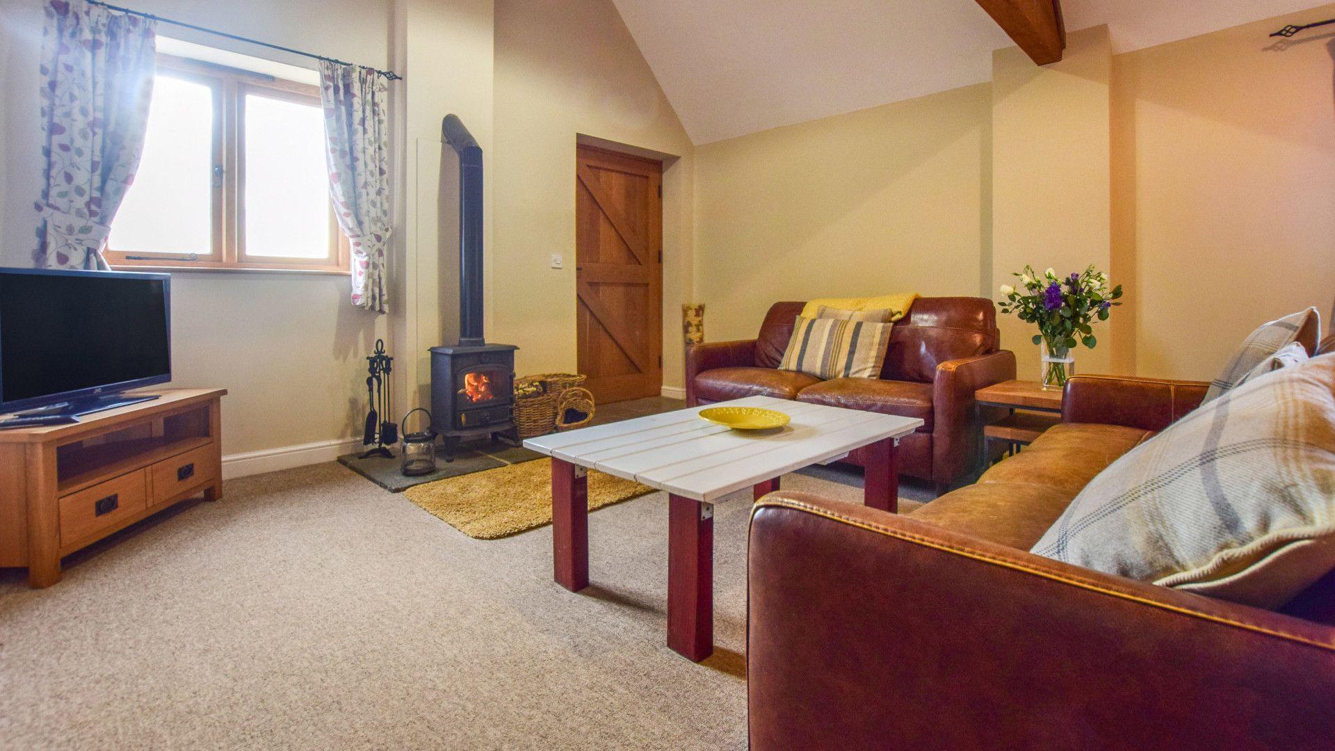 Living room, Cider House, Bolthole Retreats