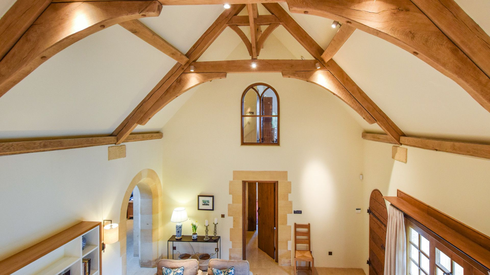 Open-plan living/dining area, The Coach House, Bolthole Retreats