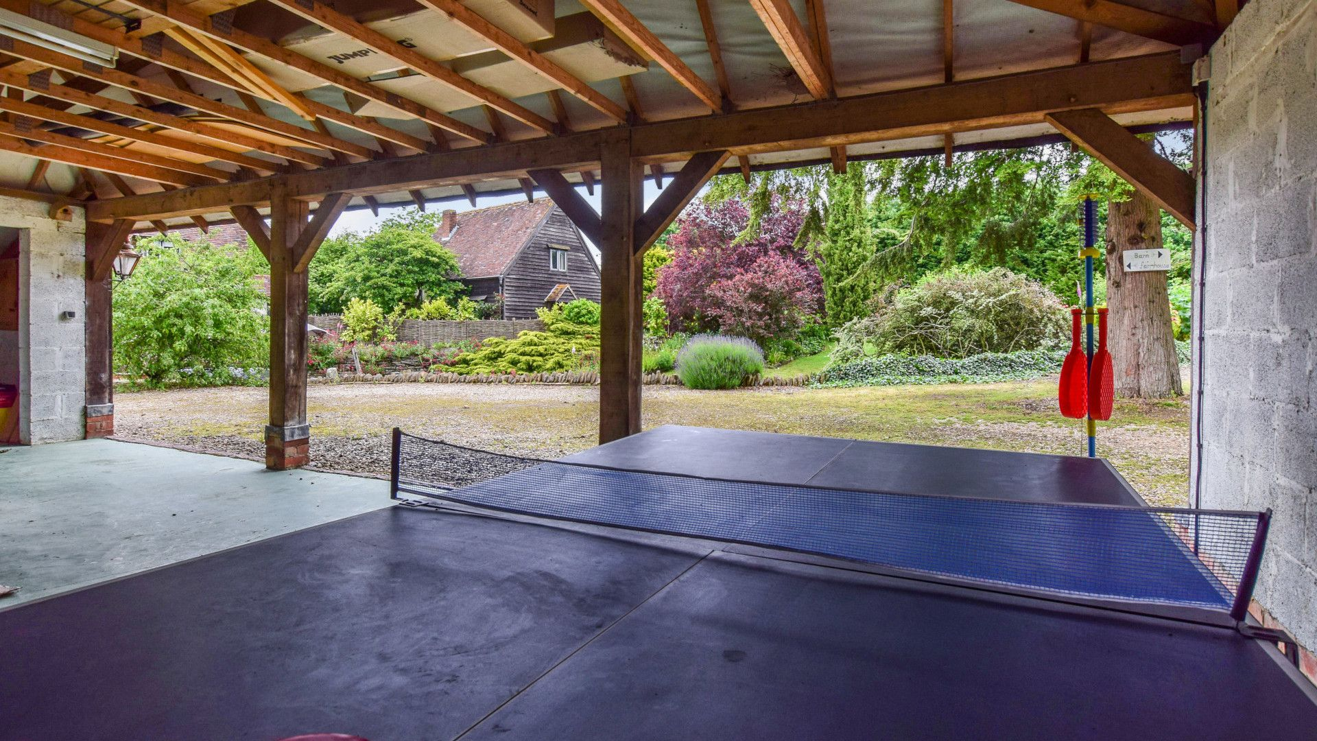 Carport with ping pong table, Cyder Press House, Bolthole Retreats