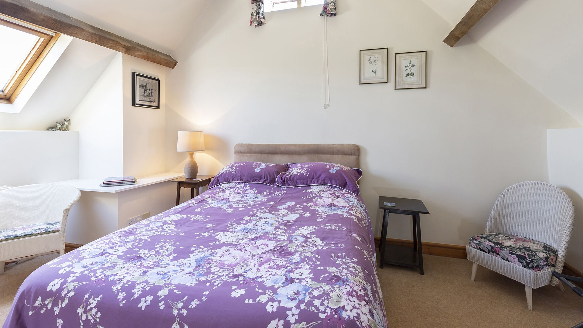 Bedroom 3, double, Field House Cottage, Bolthole Retreats