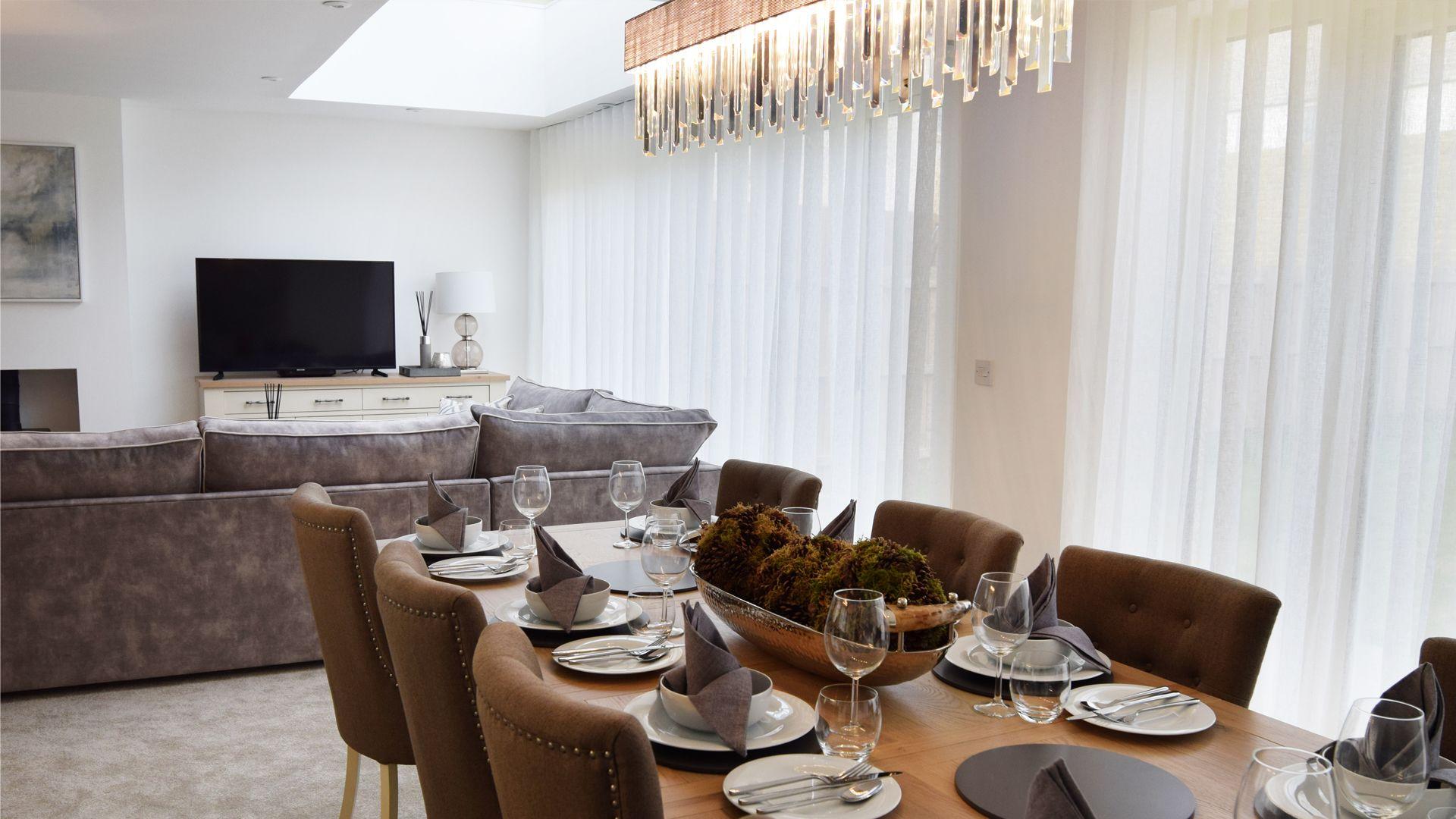 Dining/living area, Hawthorn Cottage, Bolthole Retreats