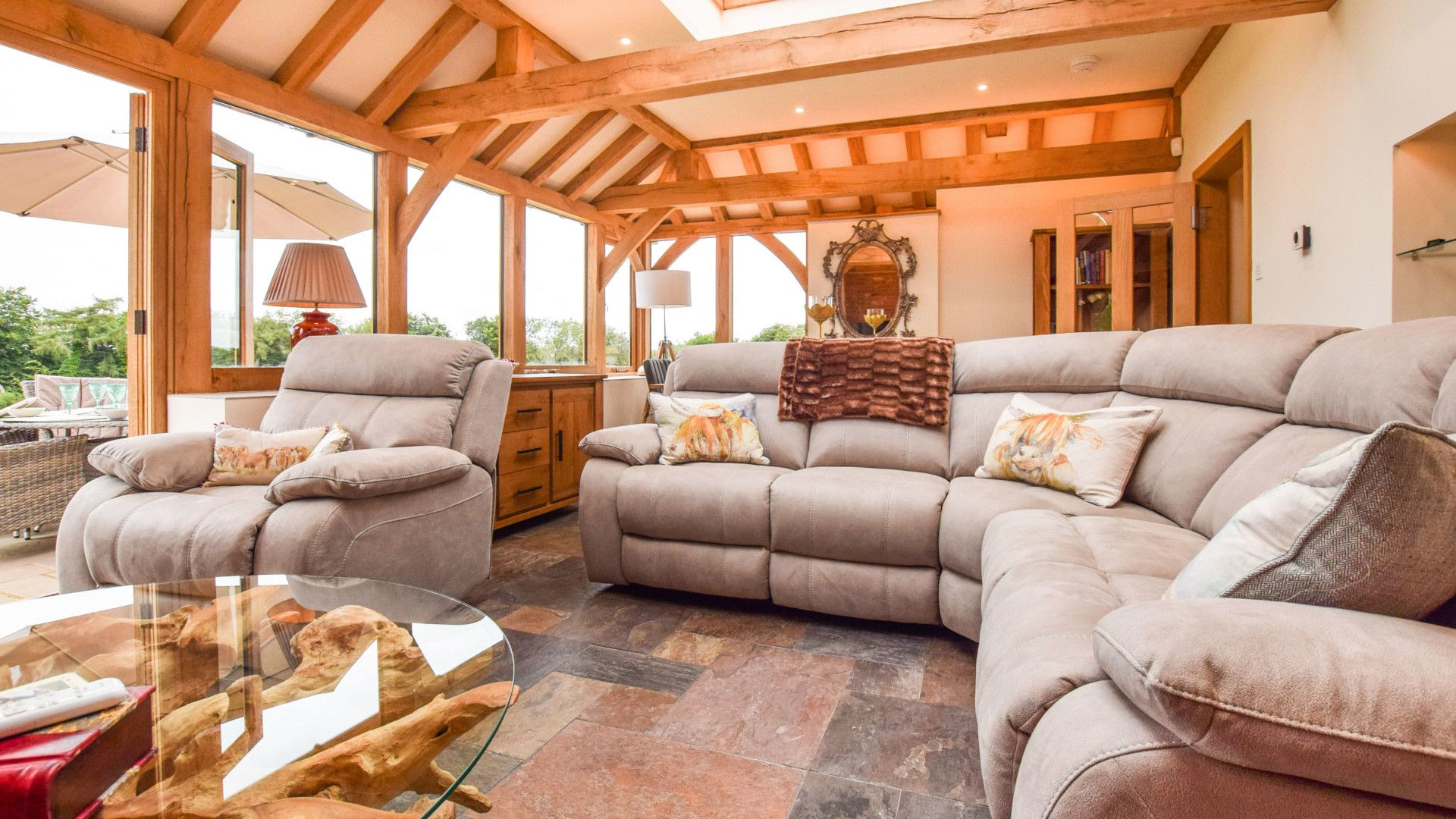 Conservatory living area, Hyde Tyning Cottage, Bolthole Retreats