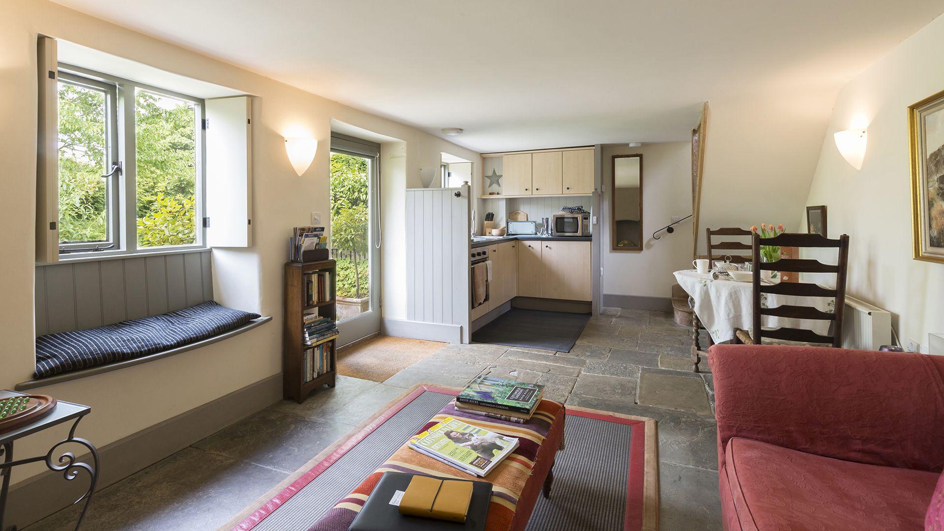 Kitchen, living, dining area, Five Bells Garden Cottage, Bolthole Retreats