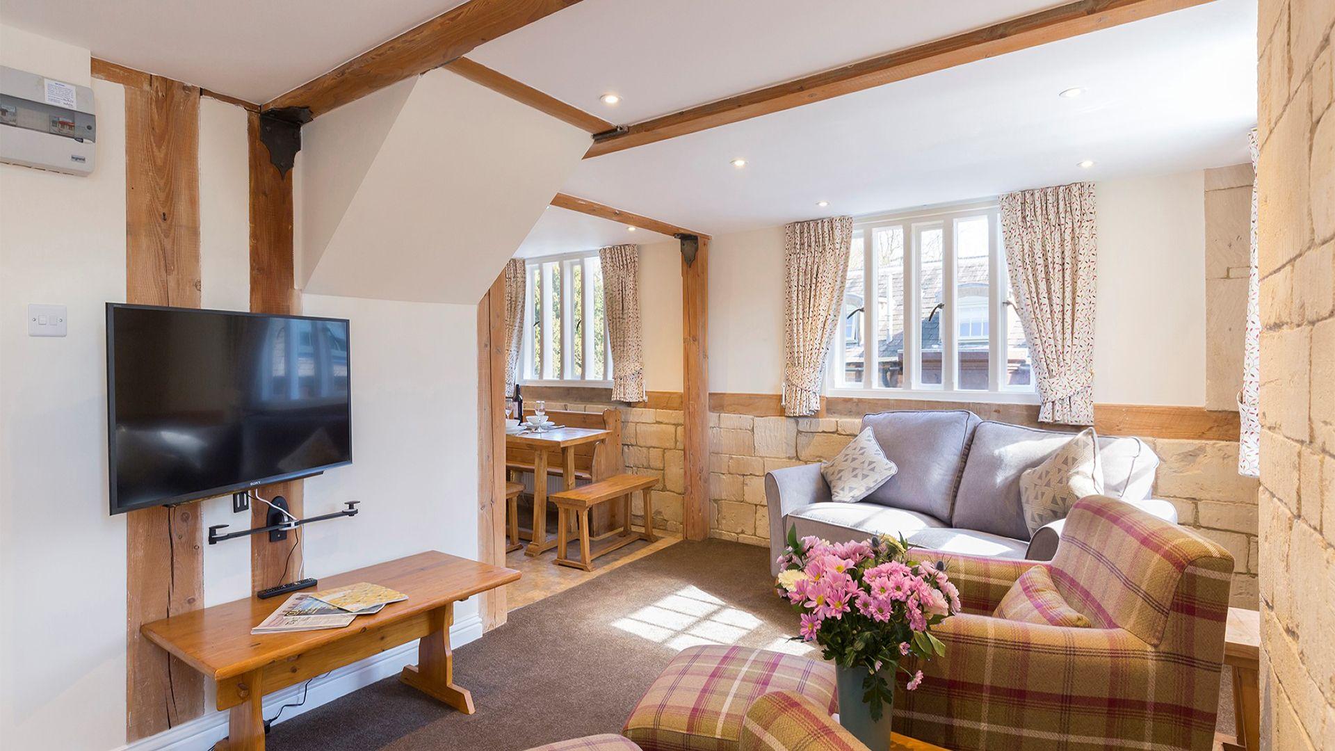 Living area, St Kenelm at Sudeley Castle, Bolthole Retreats