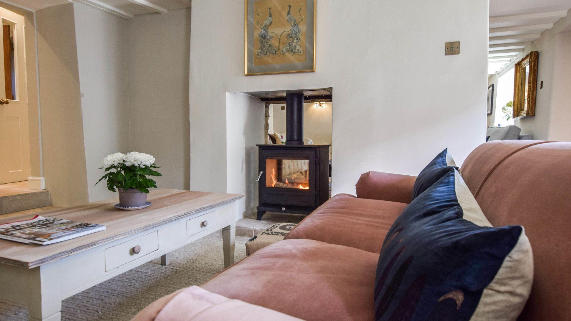 Snug with log burner, Lovell Cottage, Bolthole Retreats