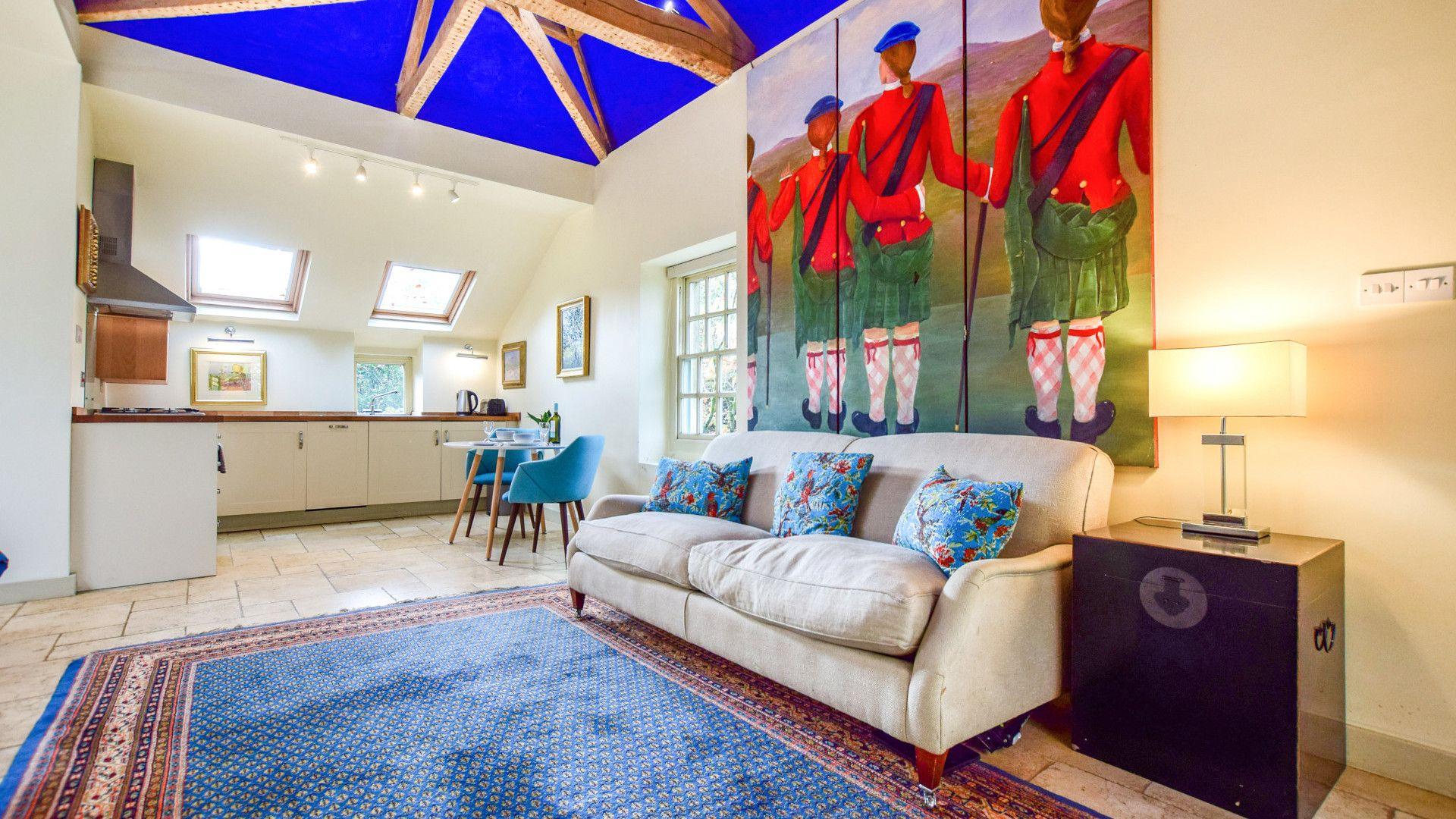 Living area, Matara Lodge, Bolthole Retreats