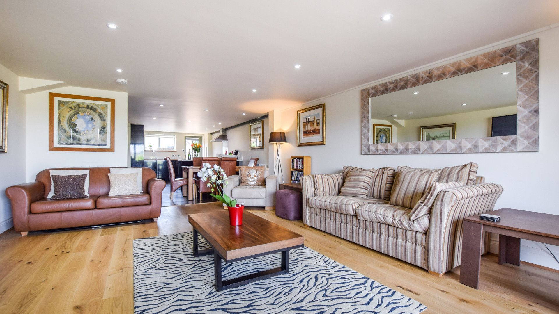 Living room, Meadow View at Avon Farm, Bolthole Retreats