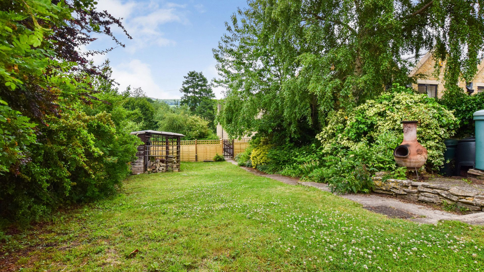 Garden, Mercia House, Bolthole Retreats