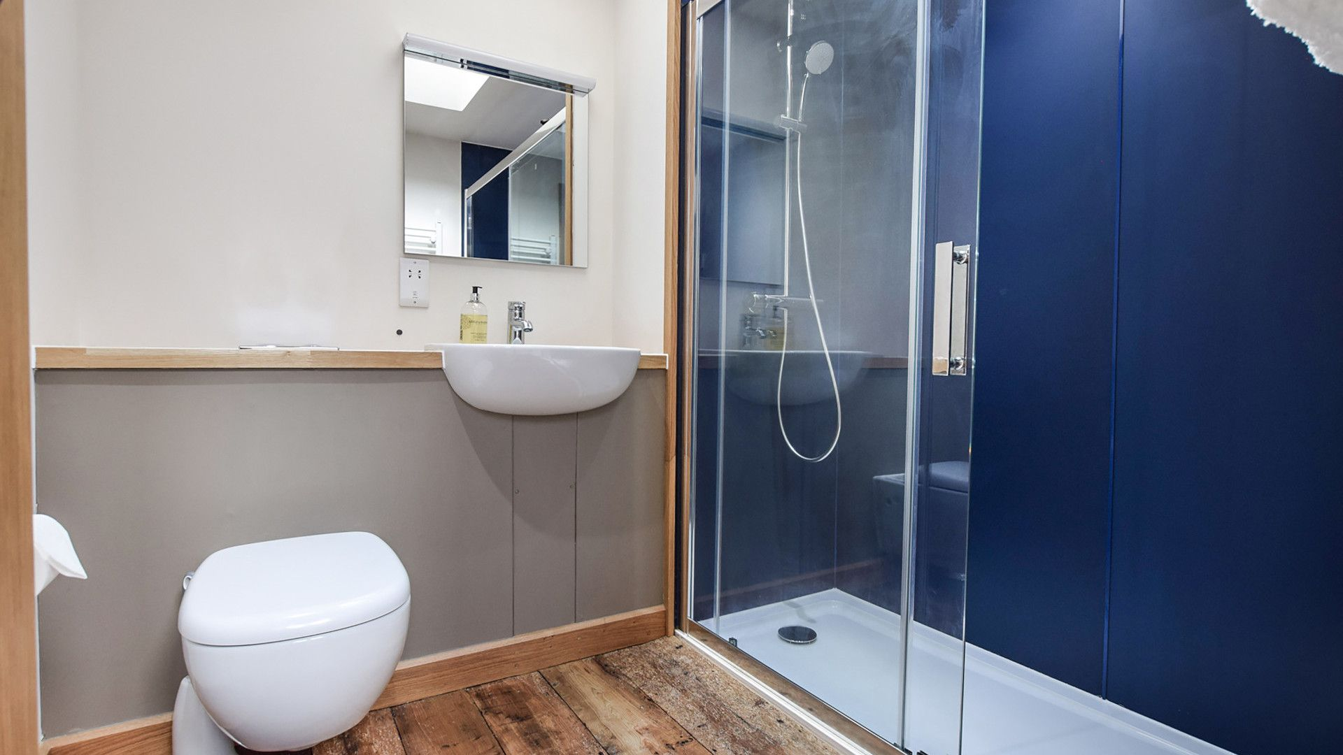 Shower room, Mercia House, Bolthole Retreats