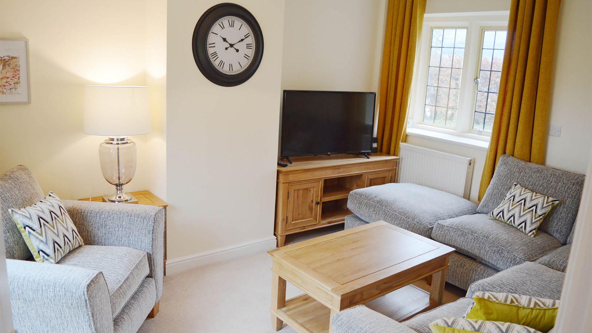 Living room, Meadow View, Bolthole Retreats