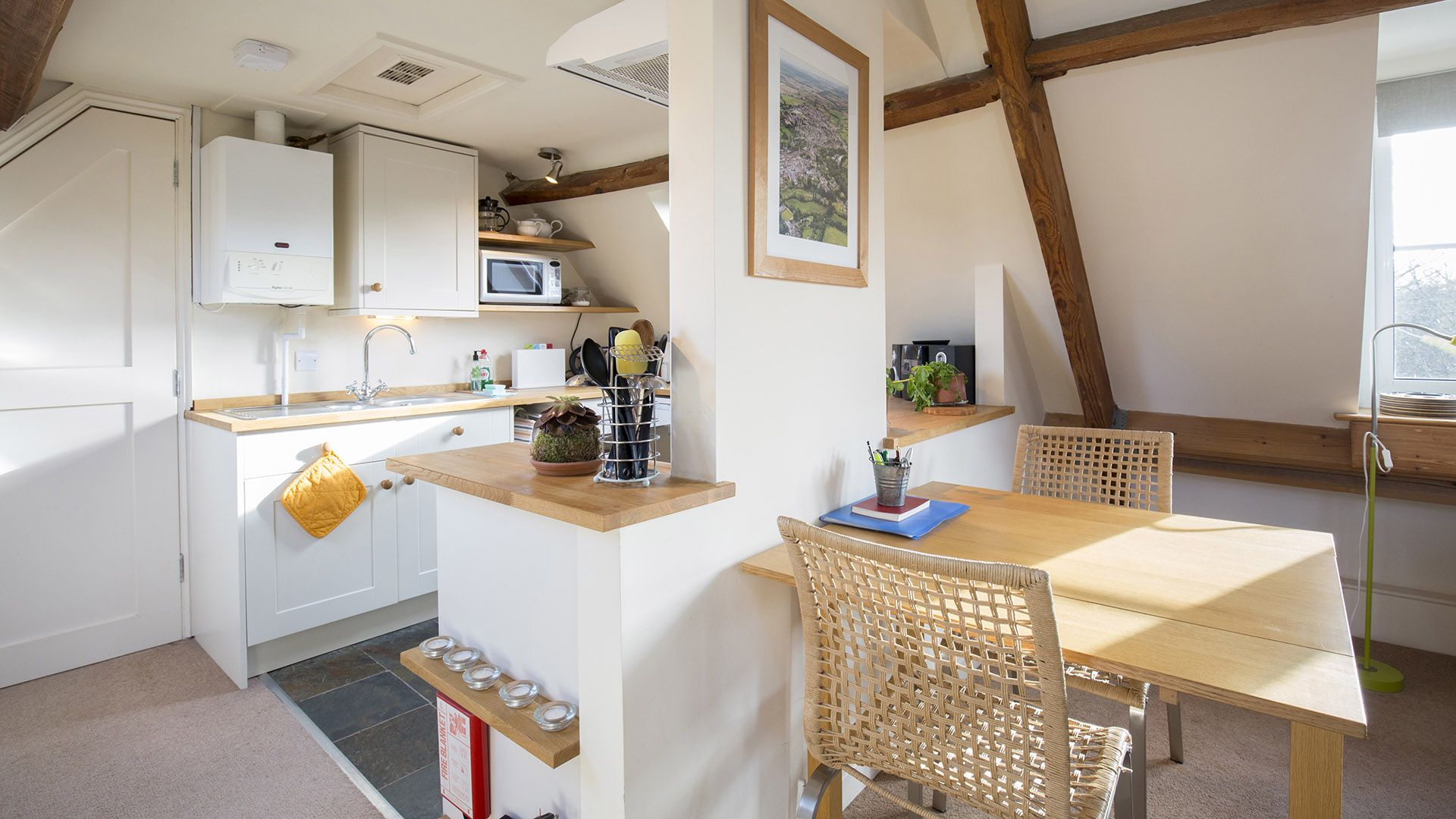 Kitchen, dining areas, The Leat at Wynard Mill, Bolthole Retreats
