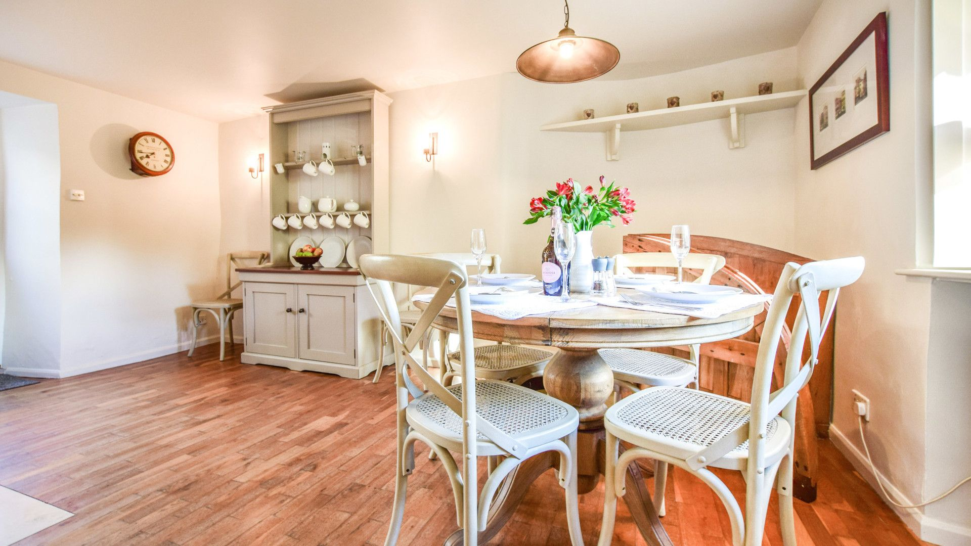 Dining area with cellar trap door, Spinners Cottage,  Bolthole Retreats