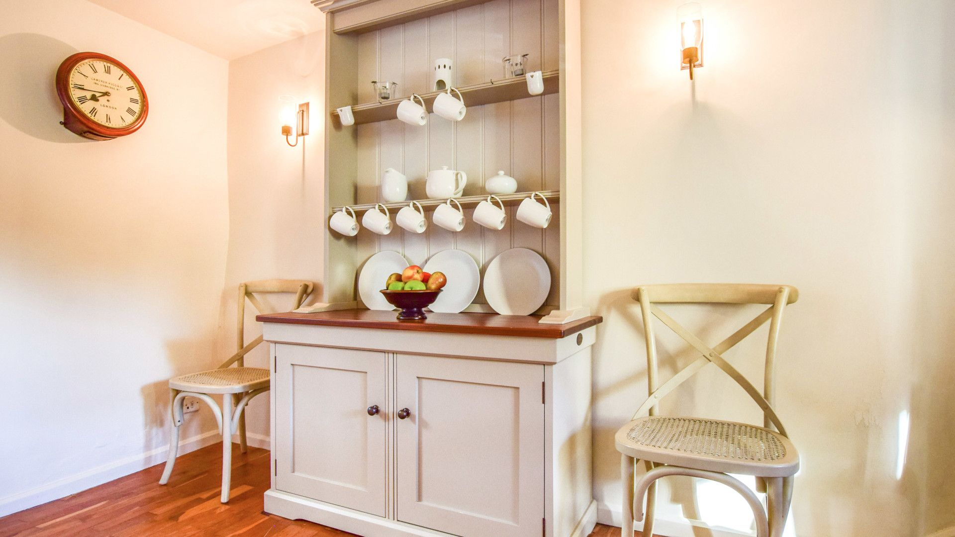 Dining area with dresser, Spinners Cottage,  Bolthole Retreats