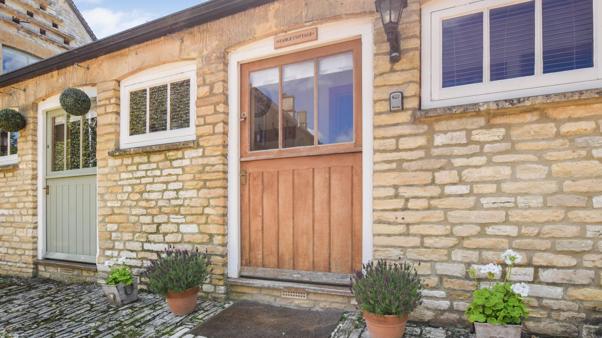 Front door at Stable Cottage, Bolthole Retreats