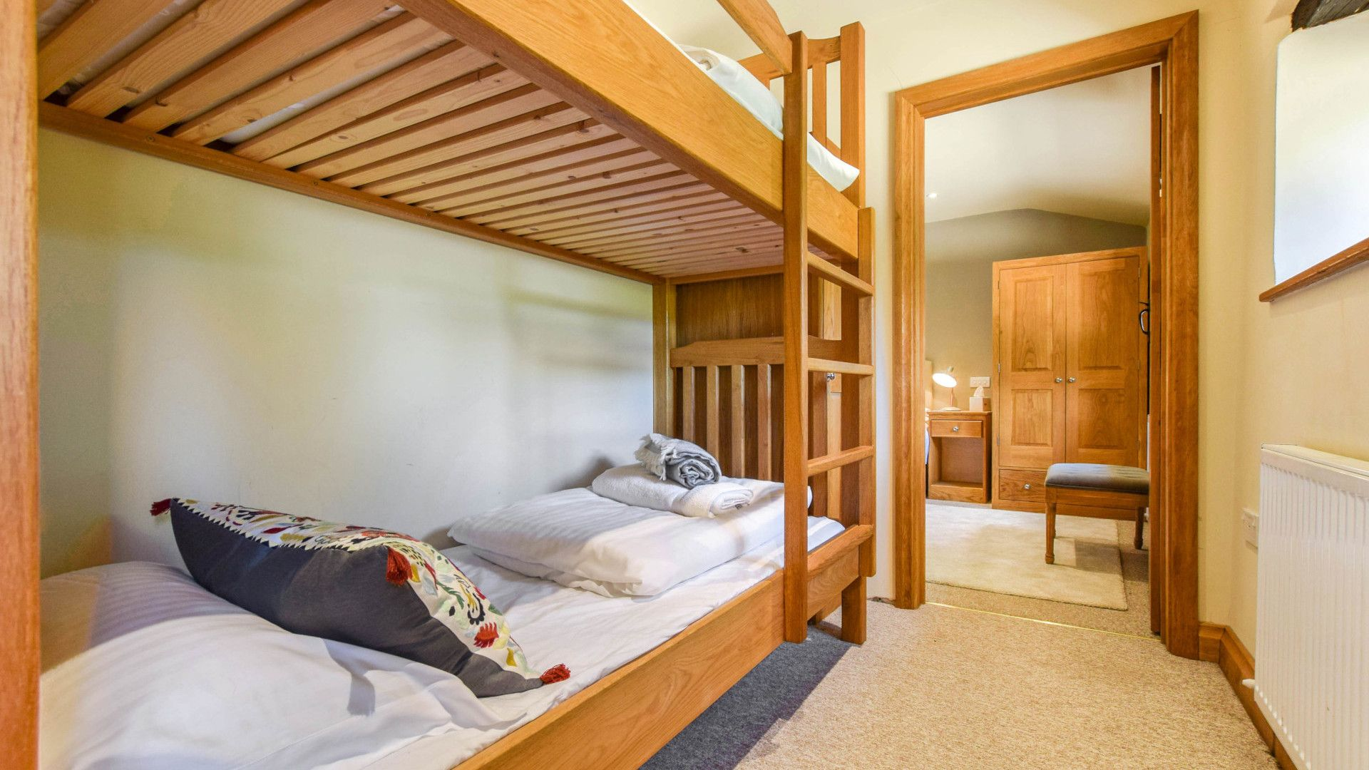 Bedroom 3 with bunkbed, Stable Cottage, Bolthole Retreats
