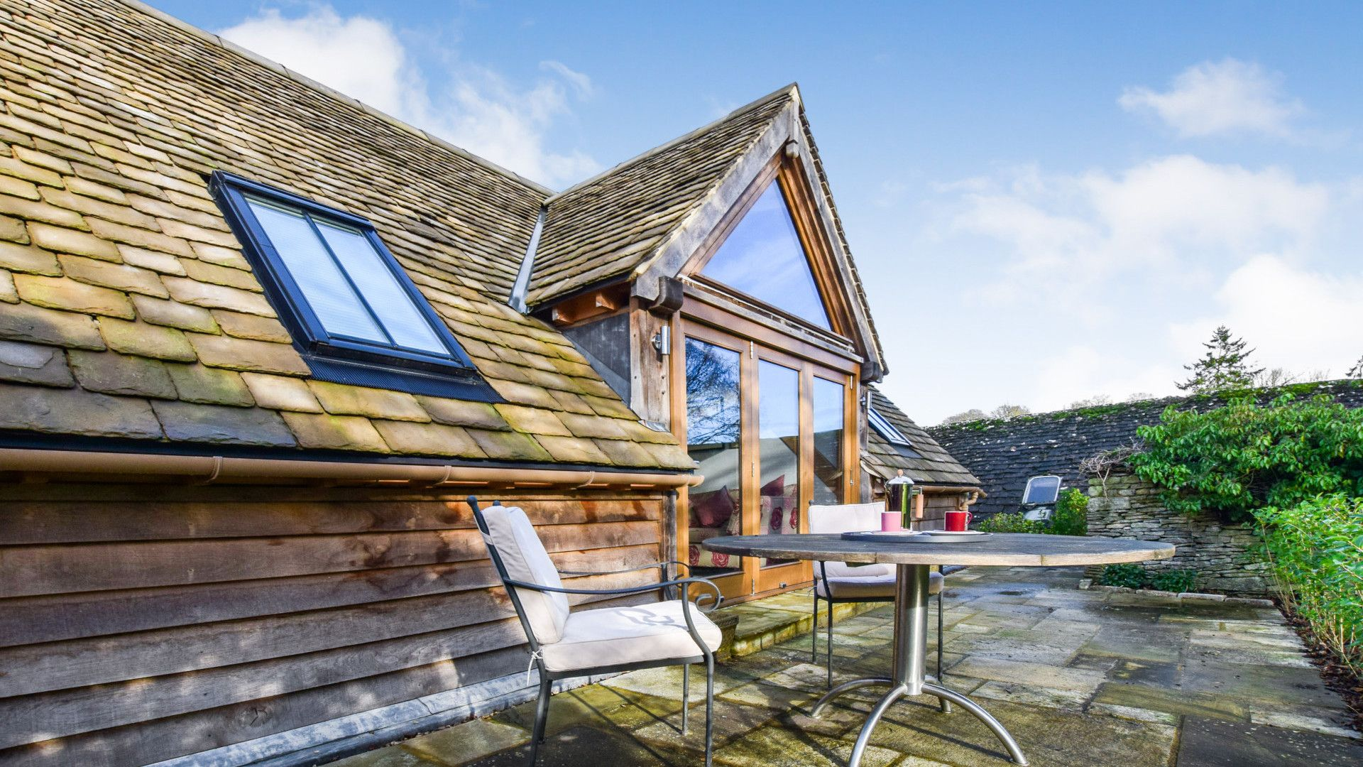 Rear with patio, Sycamore, Bolthole Retreats