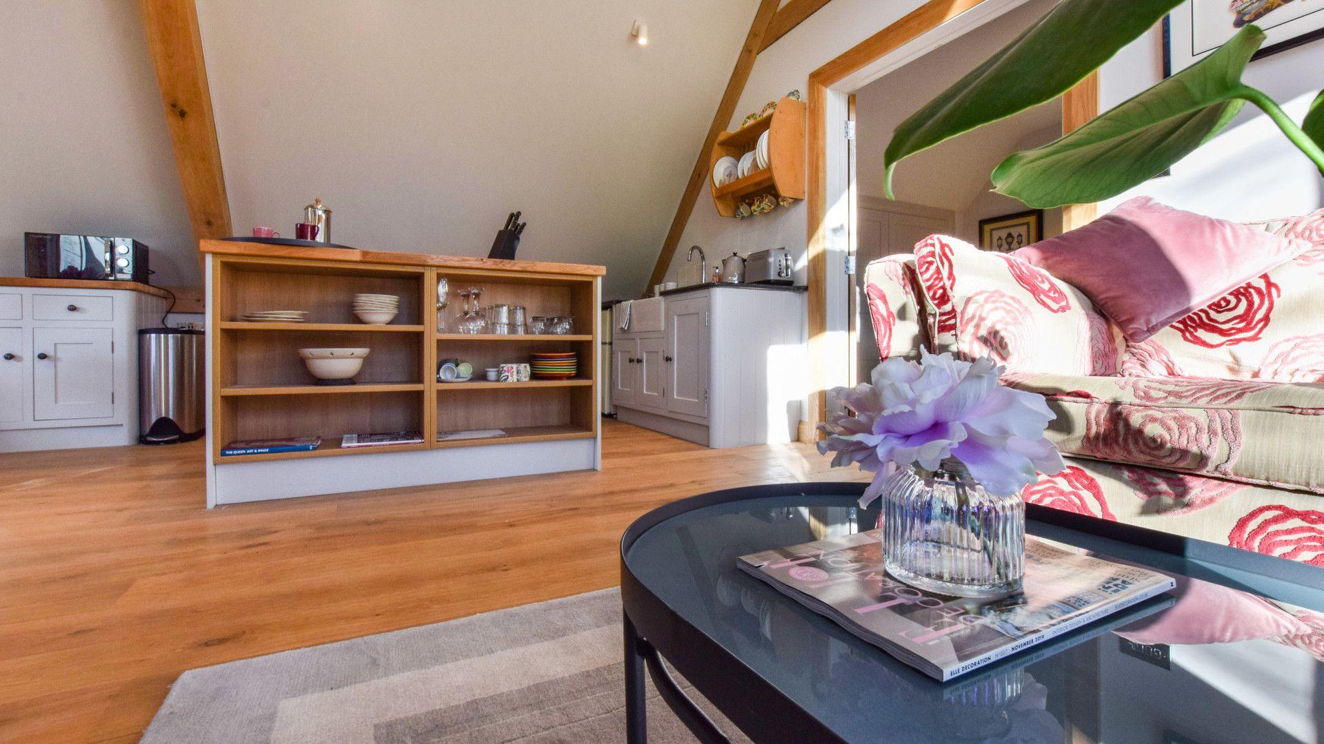 Living area, Sycamore, Bolthole Retreats