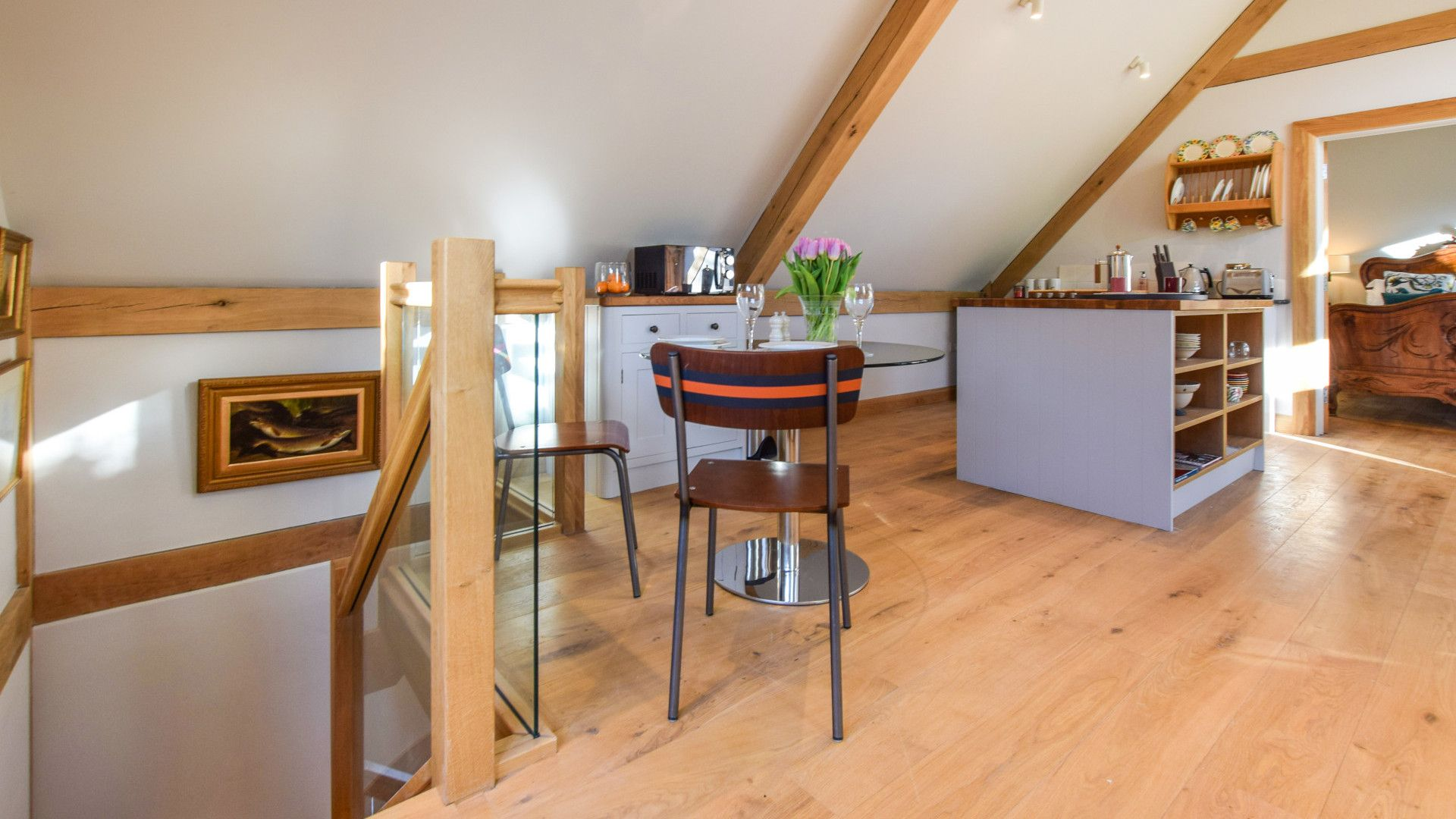 Kitchen and dining areas, Sycamore, Bolthole Retreats