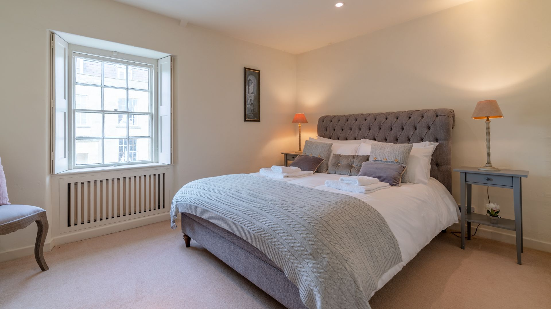 Bedroom 2, master with king-size bed,  Candlemaker's Cottage, Bolthole Retreats