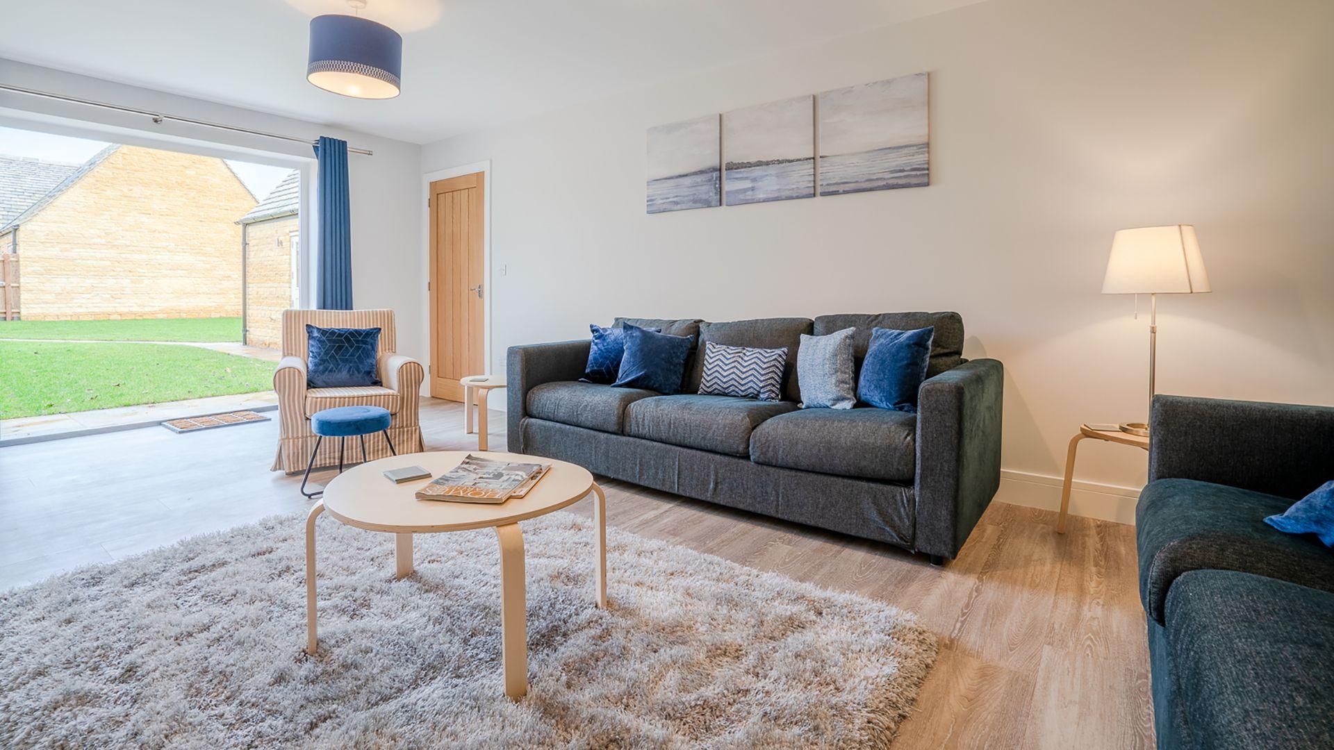 The living room, Poplar House, Bolthole Retreats
