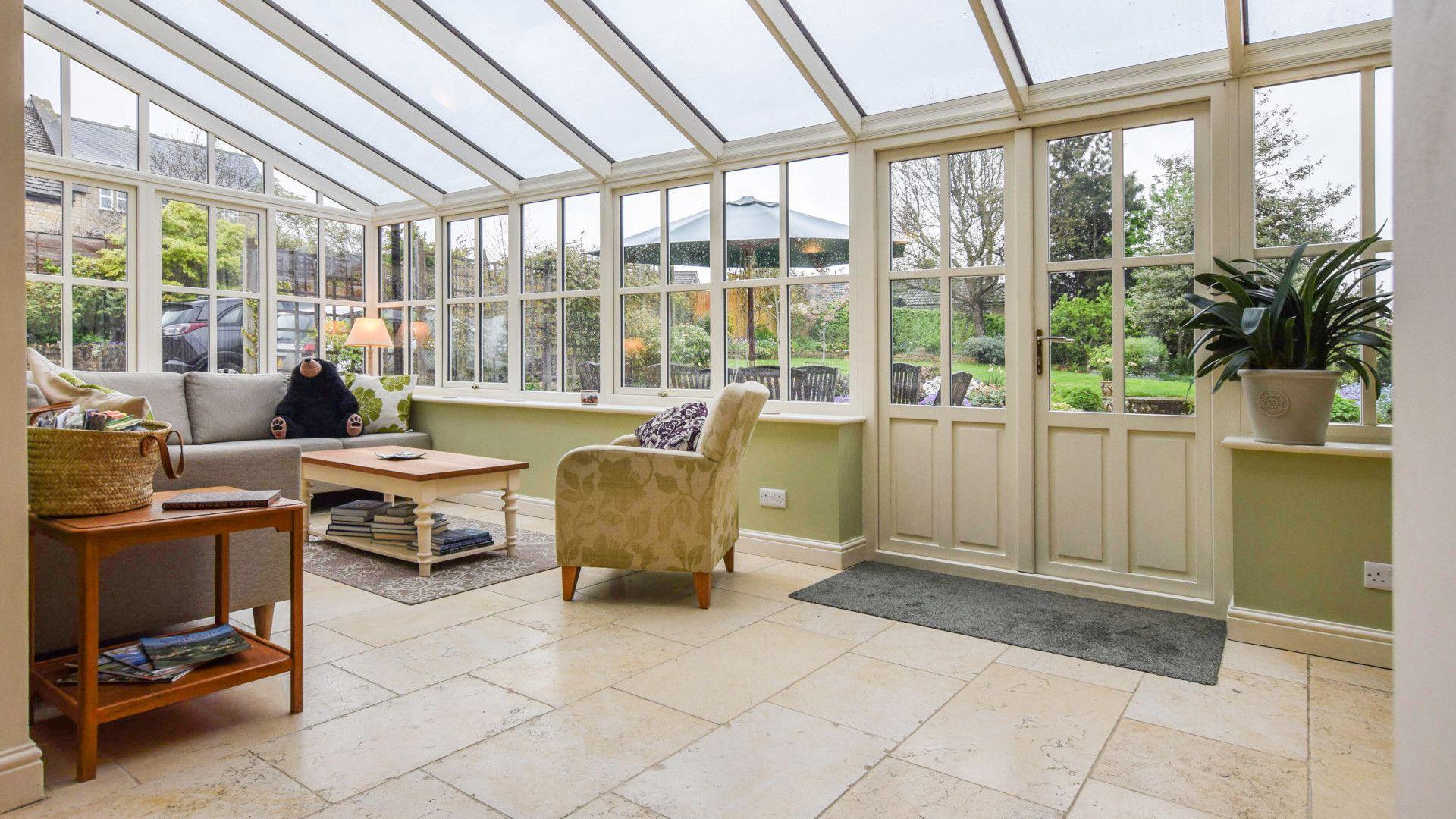 Conservatory with seating, Barebones Farm, Bolthole Retreats