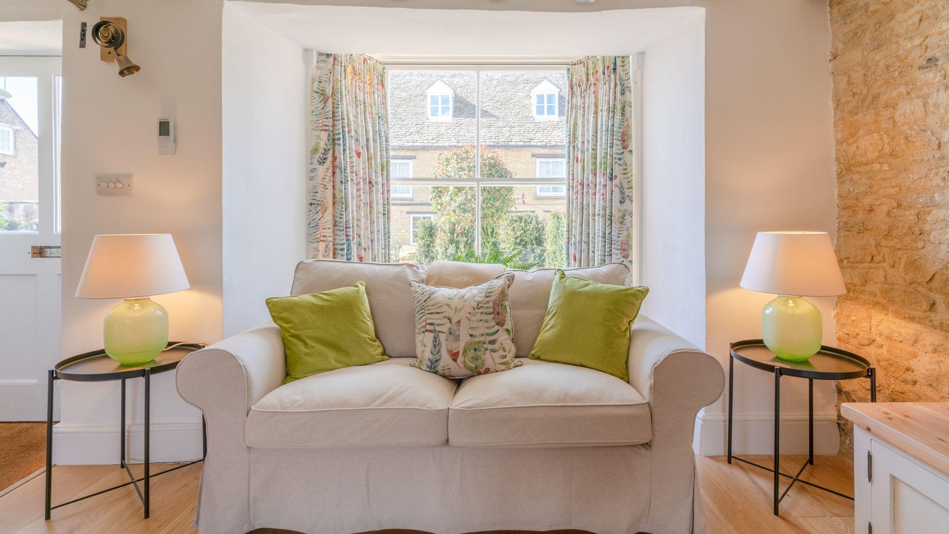 Living room sofa, Tachbrook, Bolthole Retreats