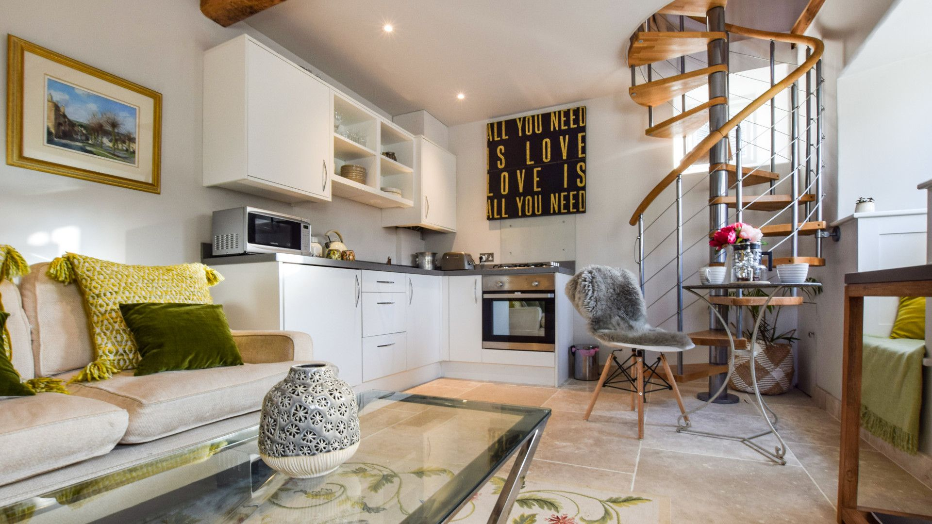Open plan, kitchen, living & dining area, Bothy at Arlington, Bolthole Retreats