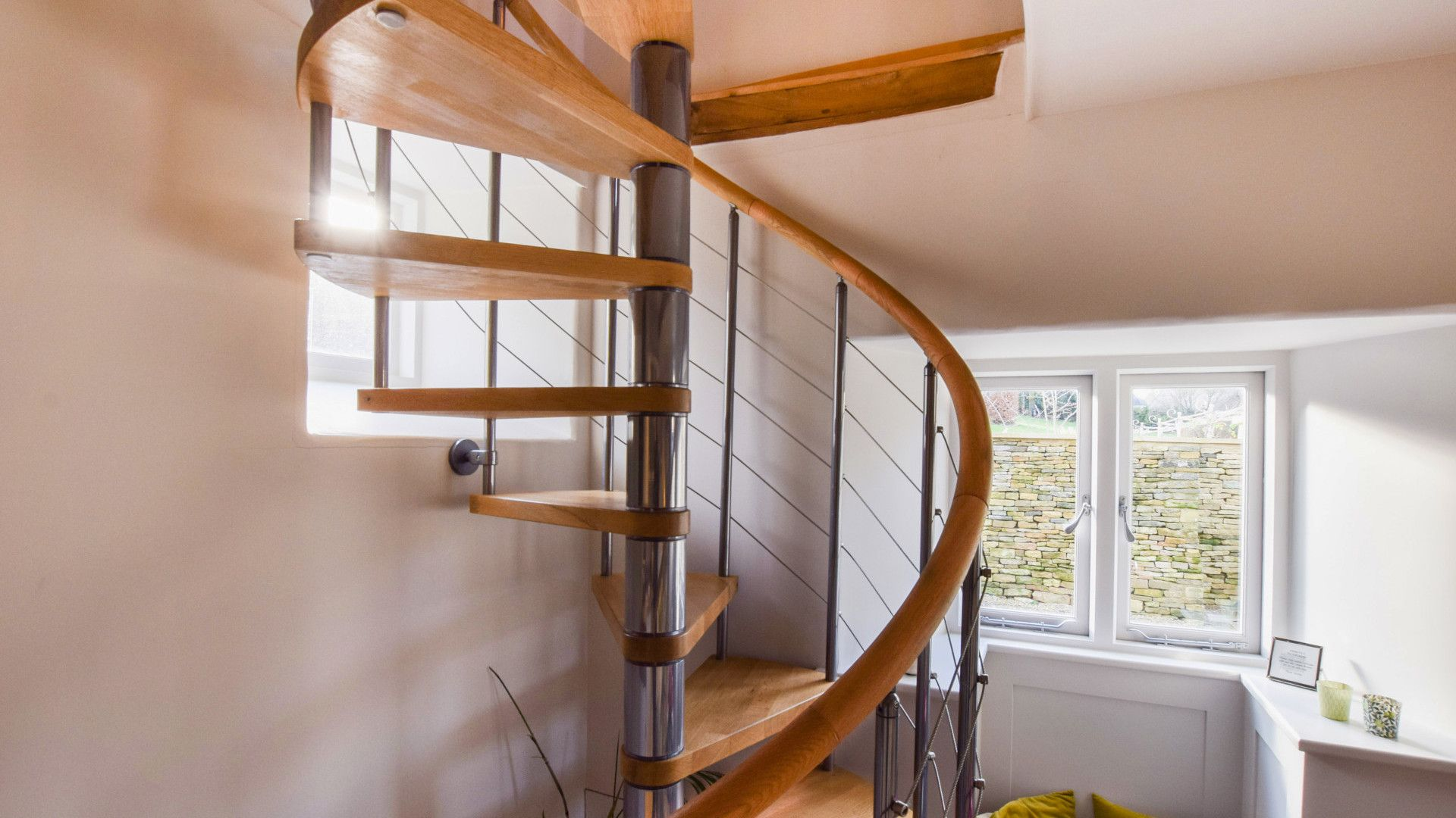 Spiral stairs, Bothy at Arlington, Bolthole Retreats