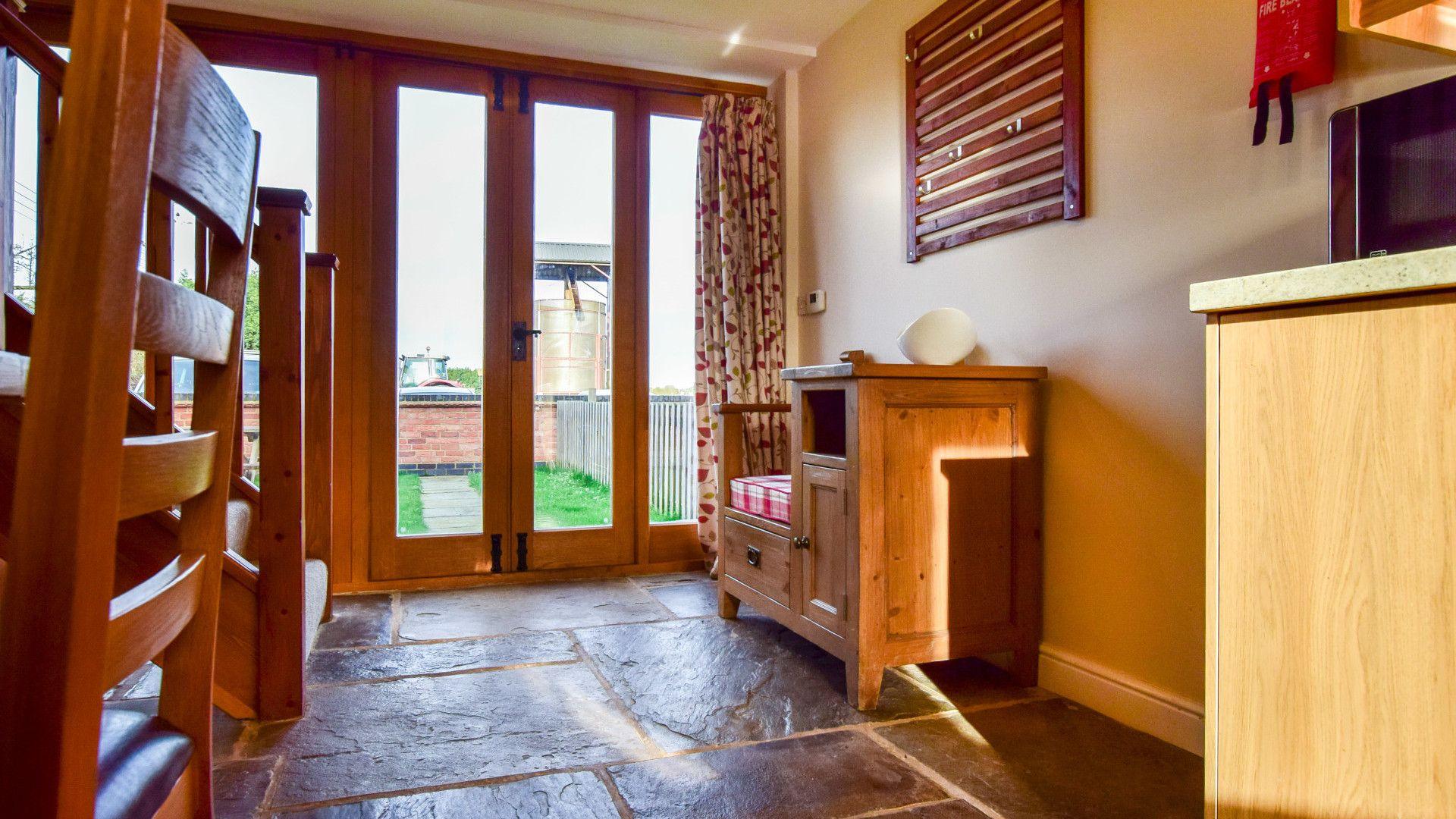 Doors to garden,  Granary, Bolthole Retreats