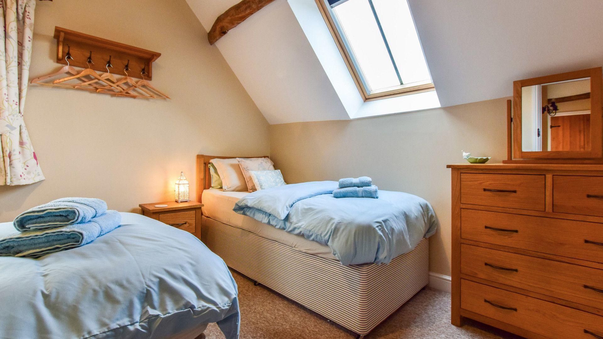 Bedroom 2,  Granary, Bolthole Retreats