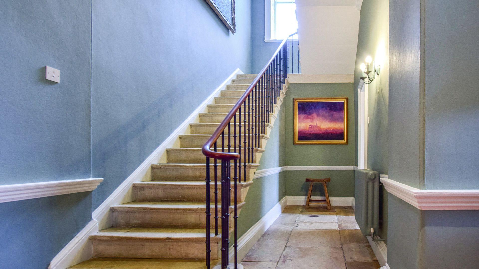Original staircase, Kingscote Park House, Bolthole Retreats