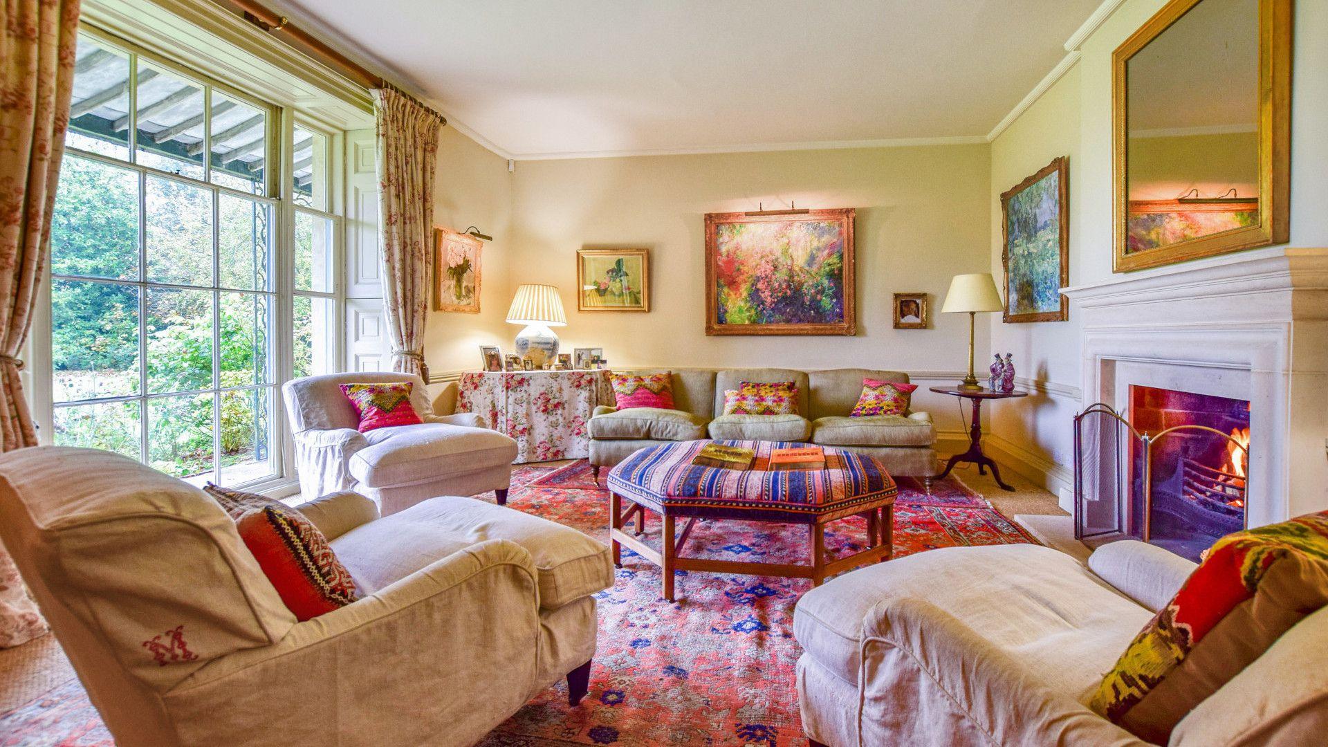 Sitting Room, Kingscote Park House, Bolthole Retreats