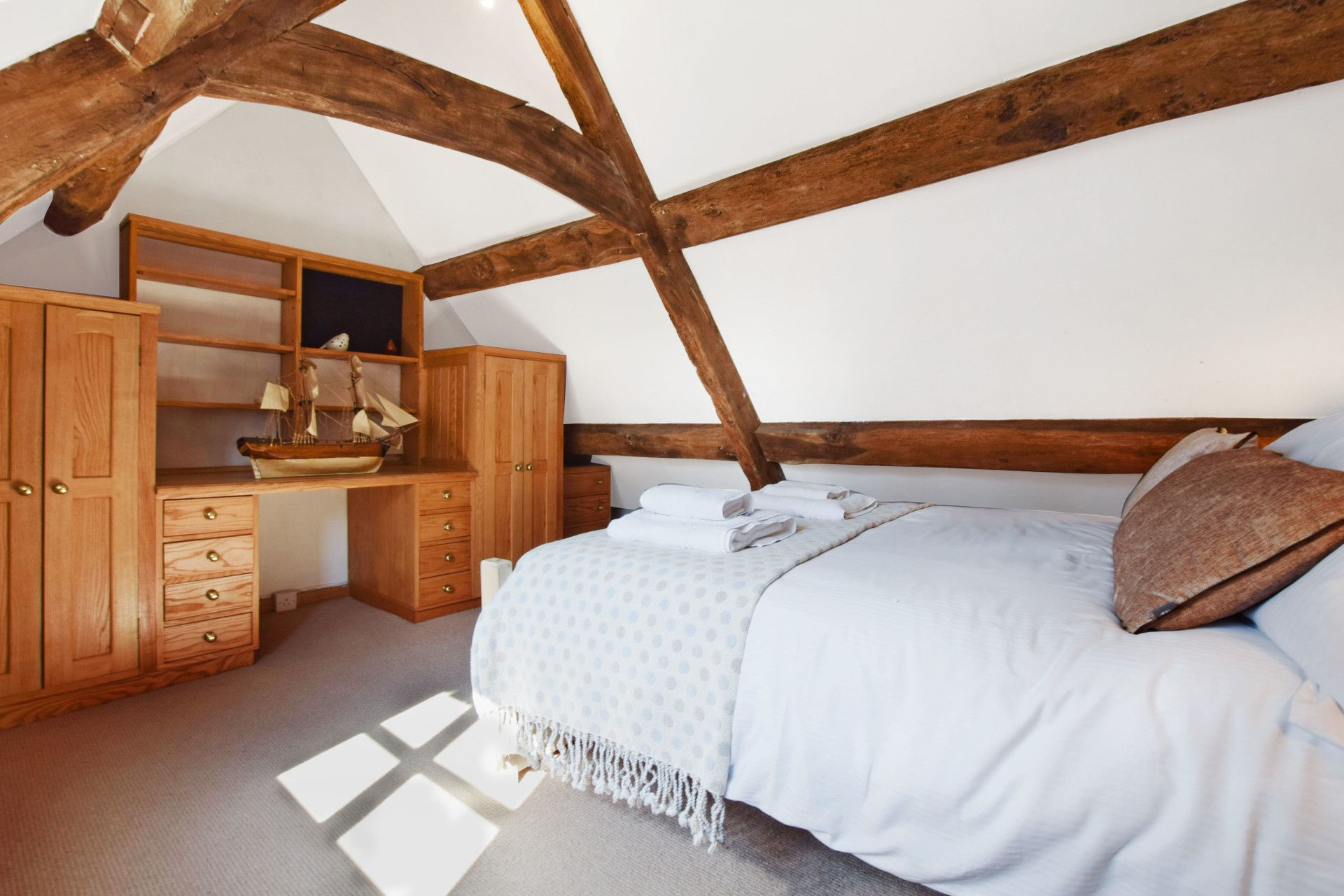 Attic Bedroom One, Old Post Office, Bolthole Retreats