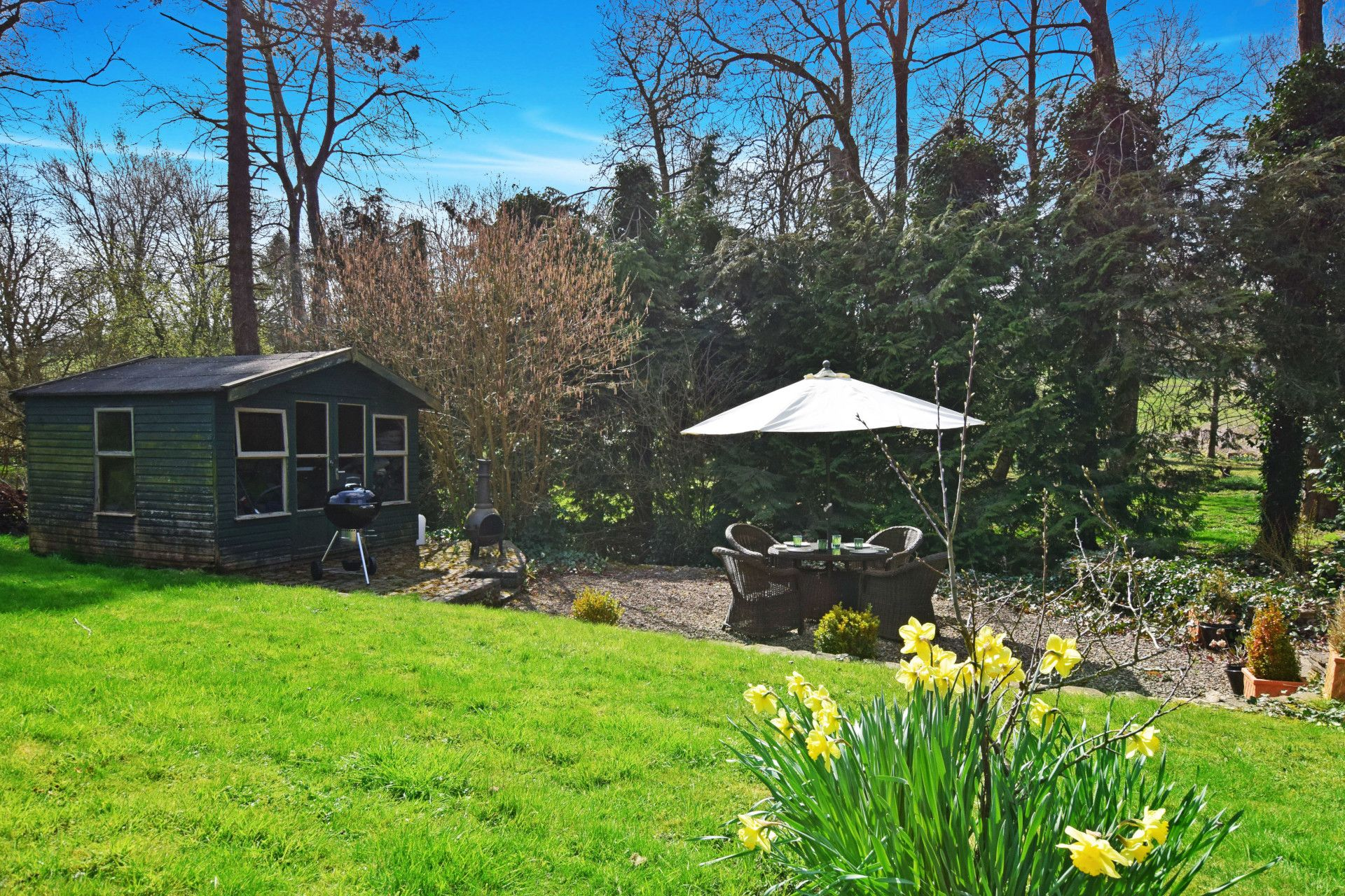 Garden seating, Old Post Office, Bolthole Retreats