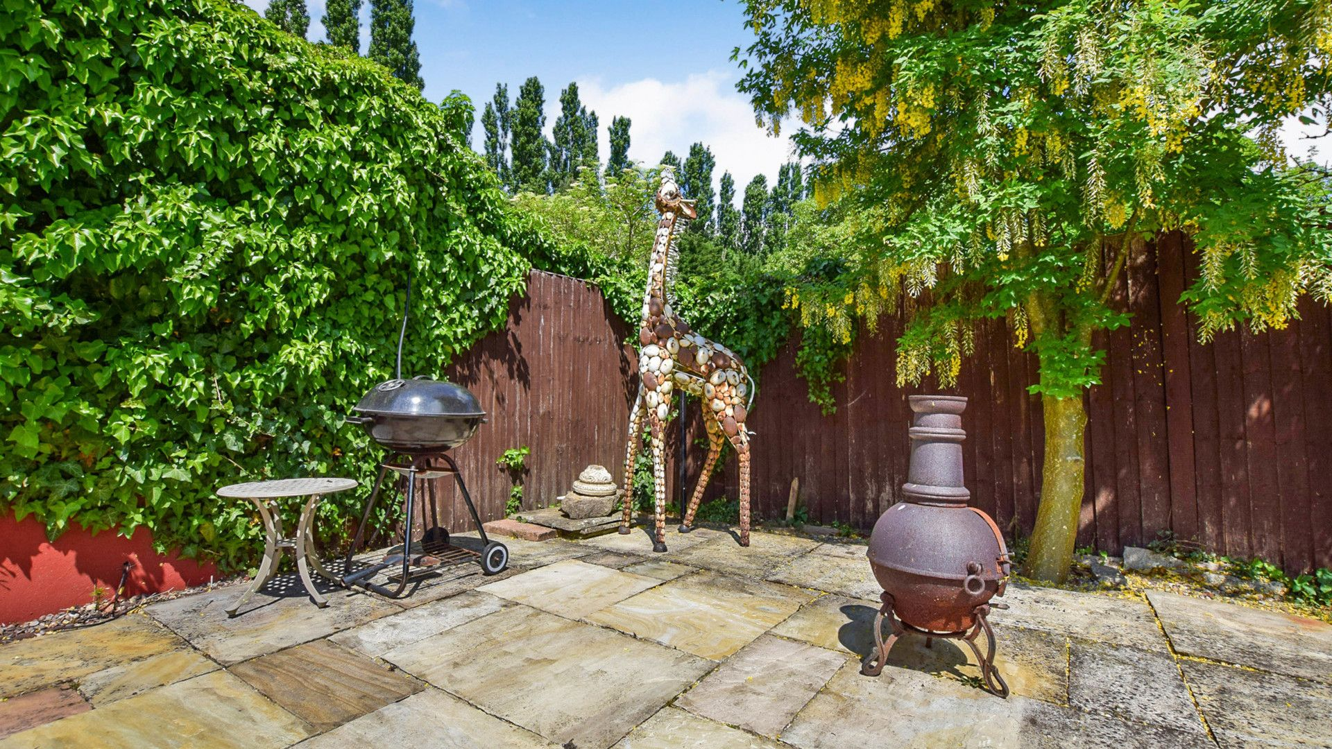 Patio with BBQ, Landers, Bolthole Retreats