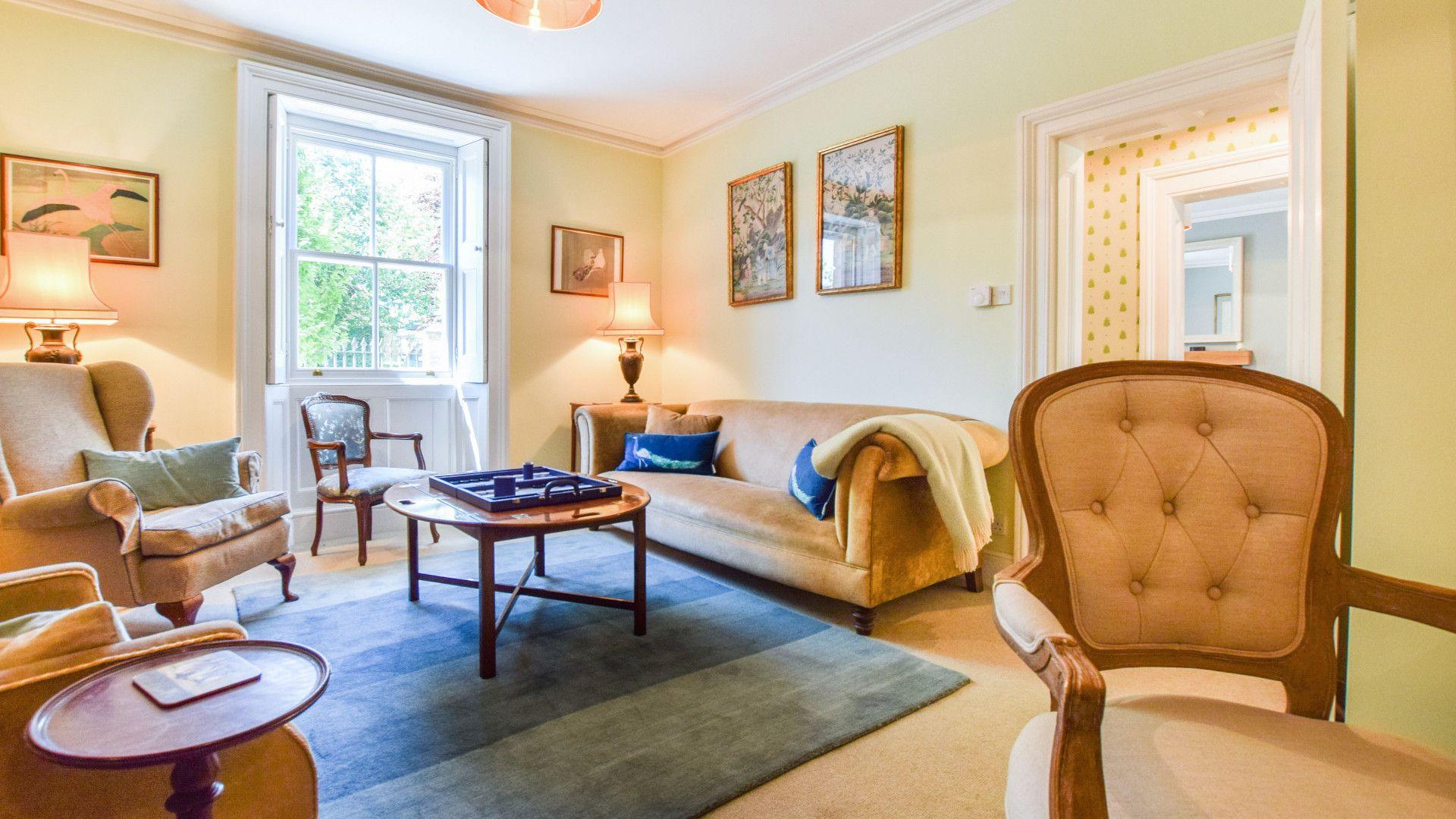 Living room, Old Manse, Bolthole Retreats