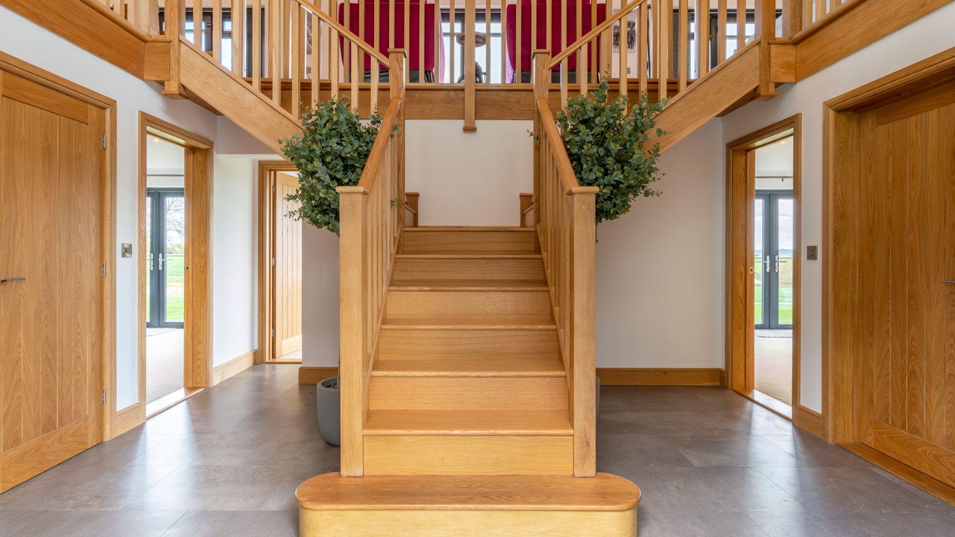 Atrium hallway, Lower Lodge Barn, Bolthole Retreats