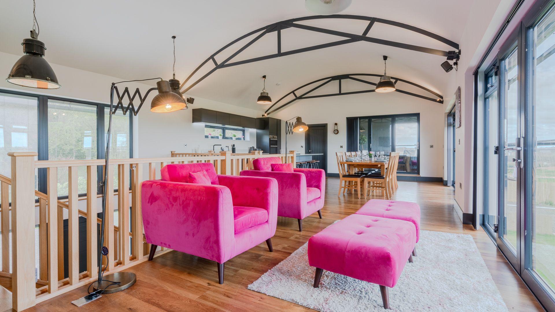 Seating area, Lower Lodge Barn, Bolthole Retreats