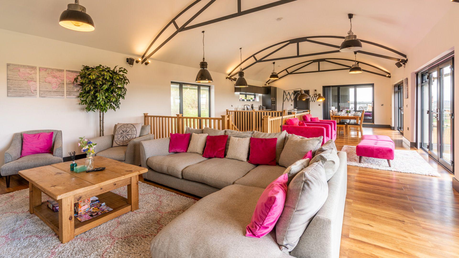Living area, Lower Lodge Barn, Bolthole Retreats