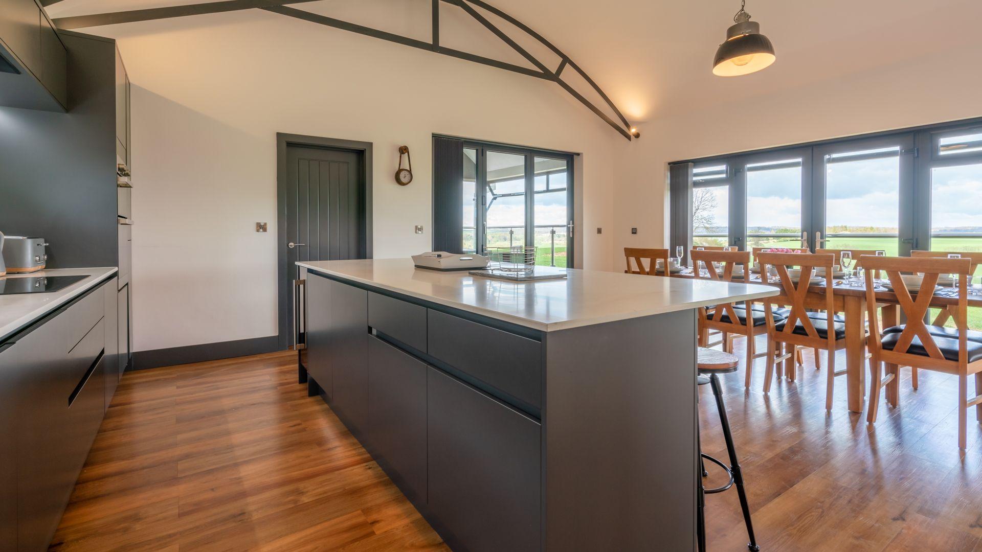 Kitchen breakfast bar, Lower Lodge Barn, Bolthole Retreats